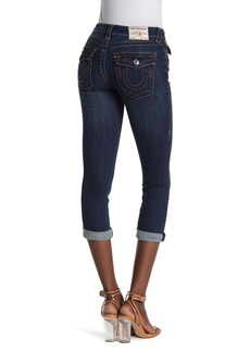 True Religion Halle Distressed Skinny Capri Jeans