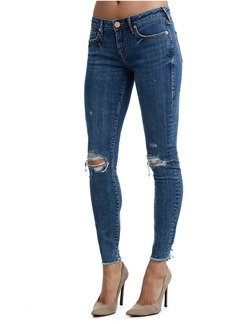 True Religion HALLE DOUBLE DESTROY WOMENS JEAN