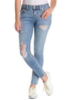 True Religion Halle Flap Destroyed Skinny Jeans