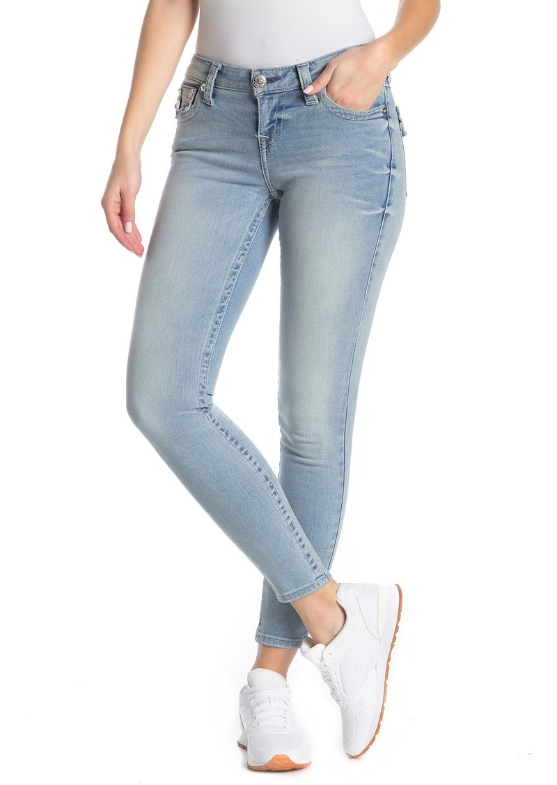 True Religion Halle Flap Pocket Mid Rise Super Skinny Jeans