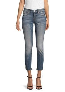 True Religion Halle Fringe-Zip Hem Skinny Jeans
