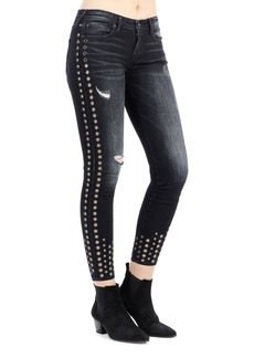 True Religion Halle Grommet-Trim Super Skinny Jeans