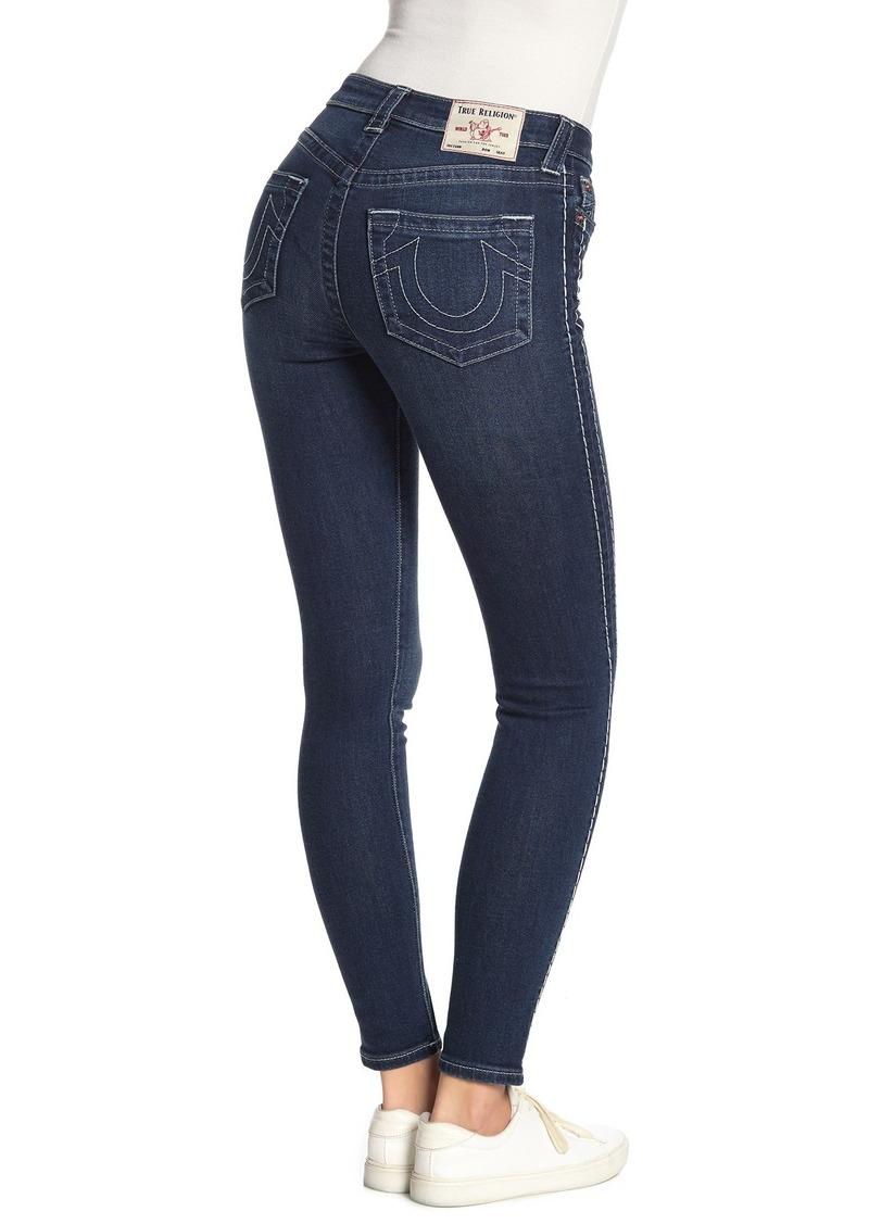 True Religion Halle High Rise Tuxedo Skinny Jeans