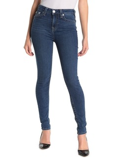 True Religion Halle High Waisted Flap Skinny Jeans