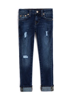 True Religion GIRLS DESTRUCTED HALLE SKINNY JEAN