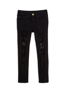 True Religion HALLE JEAN W LEATHER PATCH