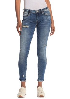True Religion Halle Lacey Ripped Skinny Crop Jeans
