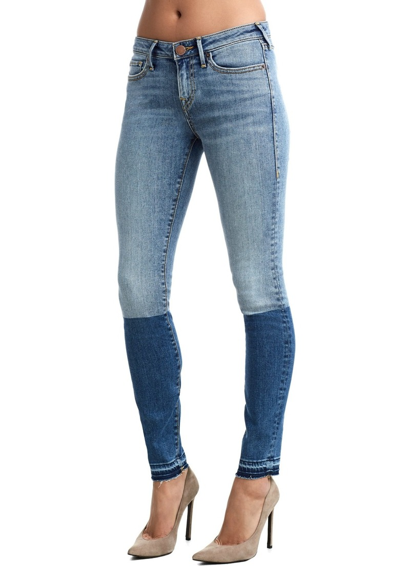 True Religion Halle Mid Rise Colorblock Jeans
