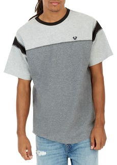 True Religion Heathered Colorblock Football T-Shirt