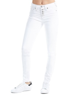 True Religion High-Rise Button-Front Super-Skinny Jeans