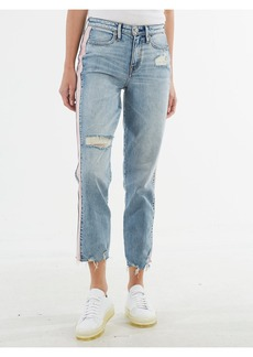 True Religion HIGH WAIST CROP STRAIGHT JEAN