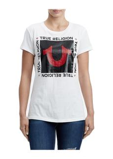 True Religion HORSESHOE SQUARE CREW TEE