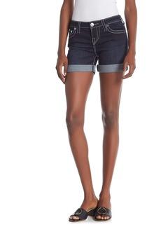True Religion Jayde Mid Rise Classic Shorts