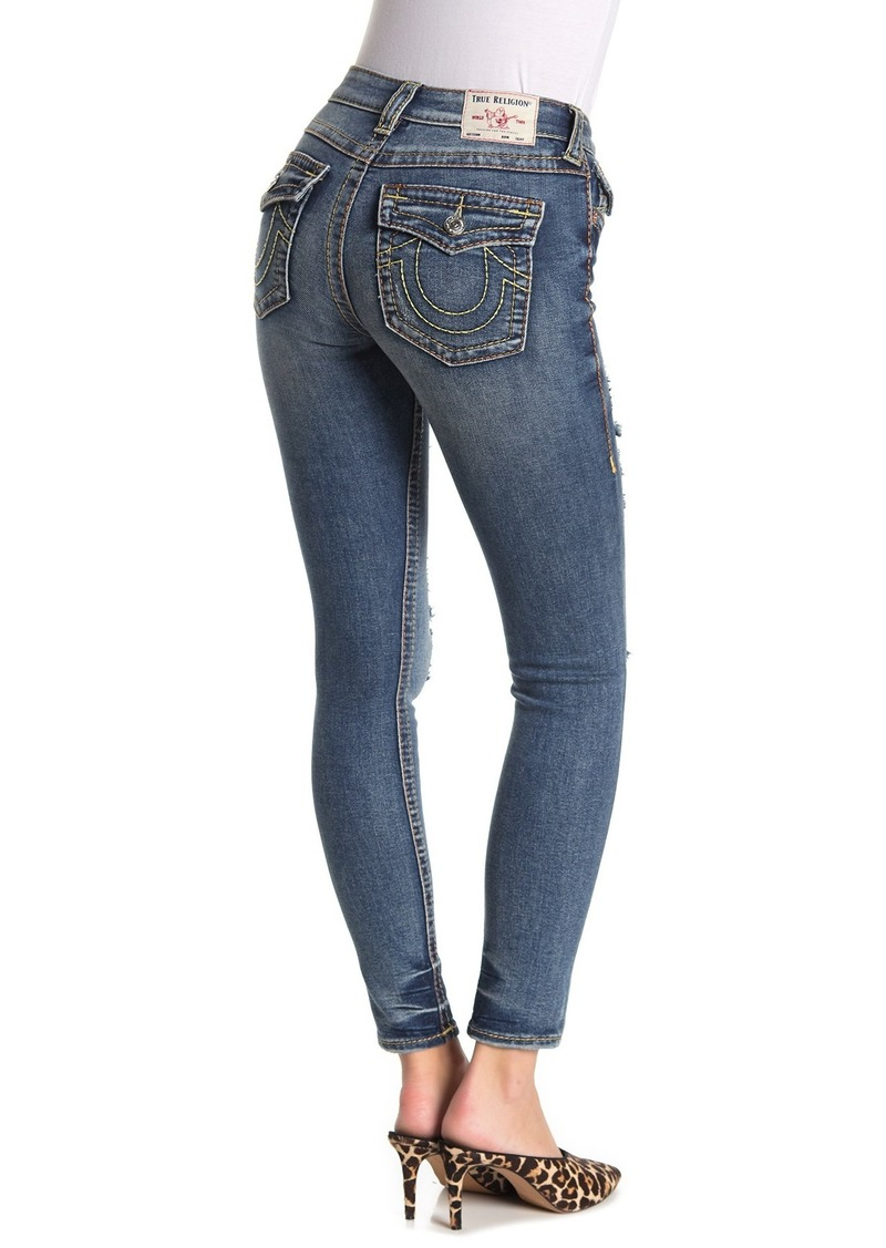 True Religion Jennie Big T Distressed Curvy Skinny Jeans