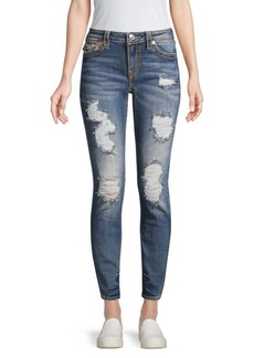 True Religion Jennie Big T Ripped Curvy Skinny Jeans