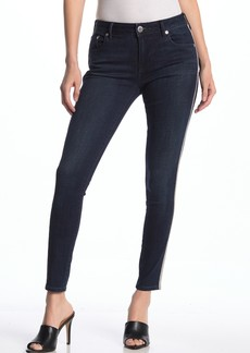 True Religion Jennie Crystal Embellished Mid Rise Skinny Jeans