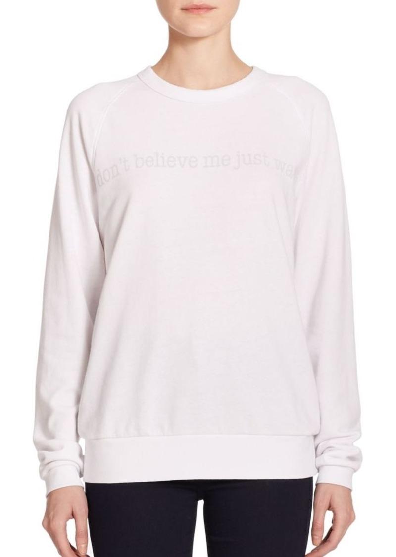 Joan Smalls x True Religion 'Don't Believe Me Just Watch' Printed Sweatshirt