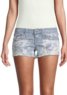 True Religion Joey Frayed Denim Shorts