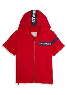 True Religion Little Boy's & Boy's Stand Short-Sleeve Hoodie