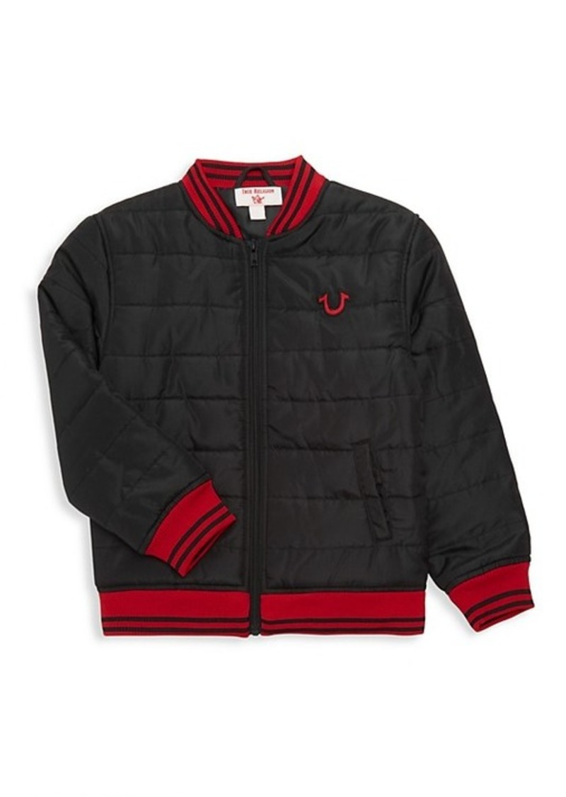 True Religion Little Boy's Patch Logo Quilted Bomber Jacket