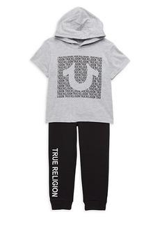 True Religion Little Kid's 2-Piece Hoodie & Jogger Set