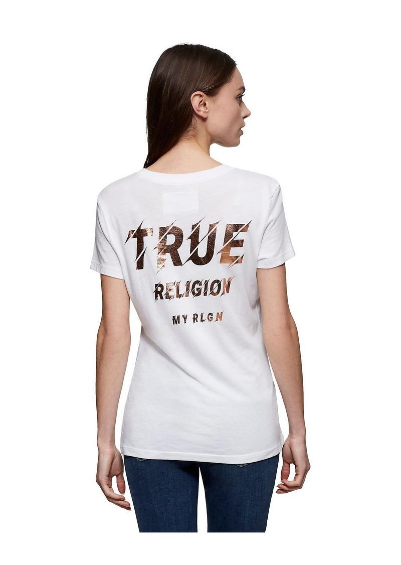 True Religion LOGO BACK TEE