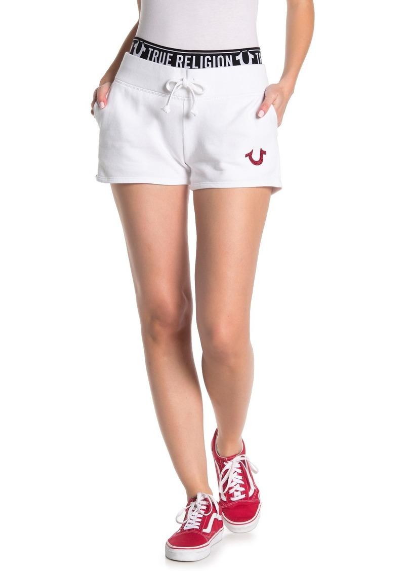 True Religion Logo Elastic Shorts