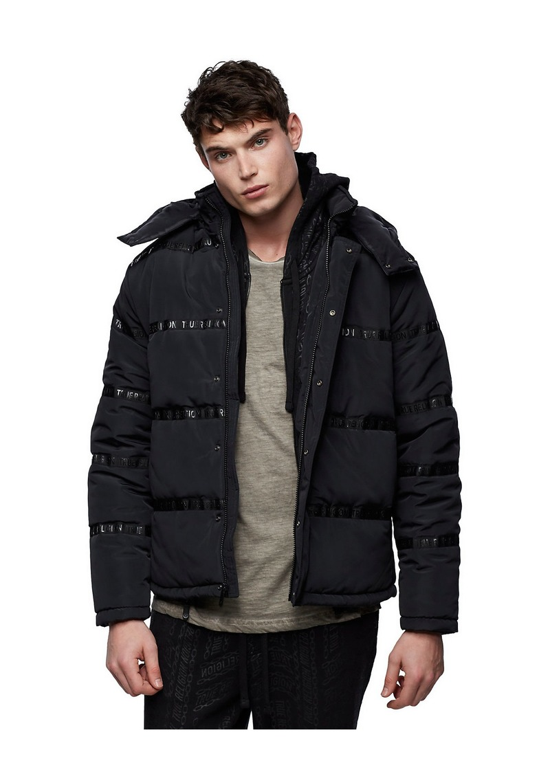 True Religion LOGO PUFFER JACKET