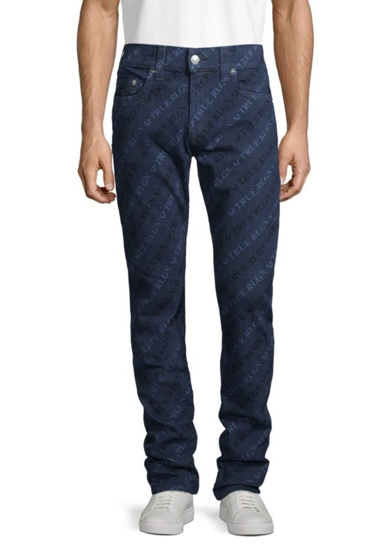 True Religion Logo Relaxed Skinny Jeans