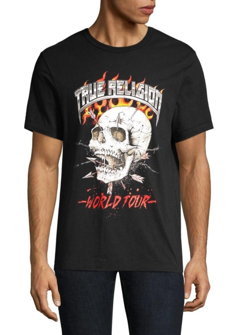 True Religion Logo Skull T-Shirt