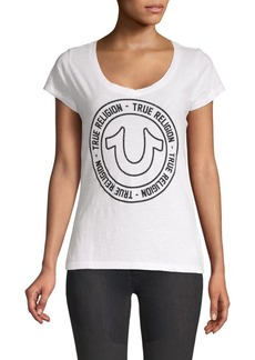 True Religion Logo V-Neck Tee