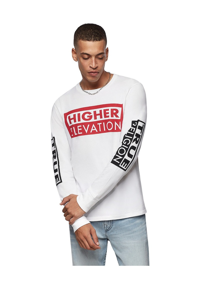 True Religion LONG SLEEVE GRAPHIC TEE