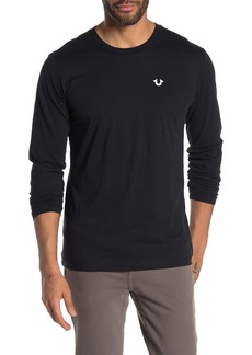 True Religion Long Sleeve Logo Crew Neck T-Shirt