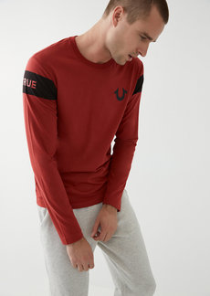 True Religion LONG SLEEVE LOGO TEE