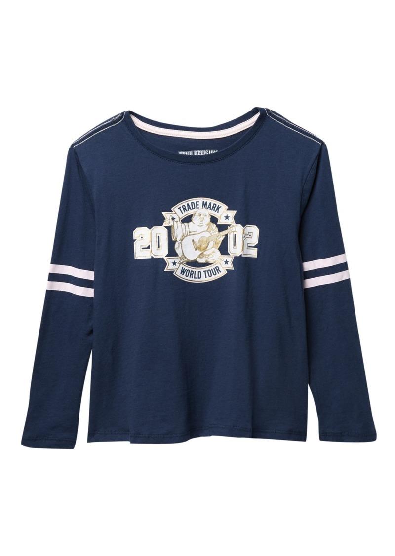 True Religion Long Sleeve Varsity T-Shirt (Big Girls)