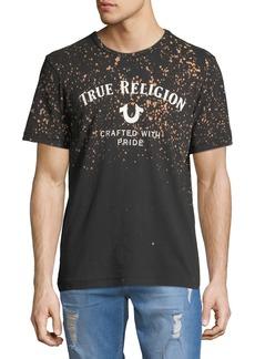 True Religion Men's Bleached Heritage Logo T-Shirt
