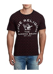 True Religion MENS BUDDHA MONOGRAM TEE