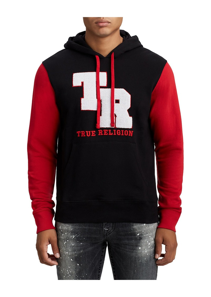 True Religion MENS CHENILLE PATCH PULLOVER HOODIE
