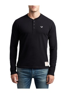 True Religion MENS CLASSIC EMBROIDERED HENLEY