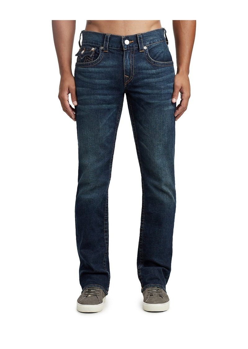 True Religion MENS CONTRAST STRAIGHT JEAN W/ FLAP
