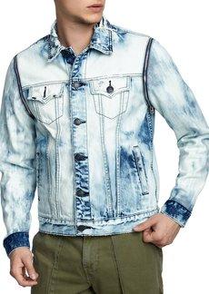 True Religion Men's Danny Distressed Denim Jacket