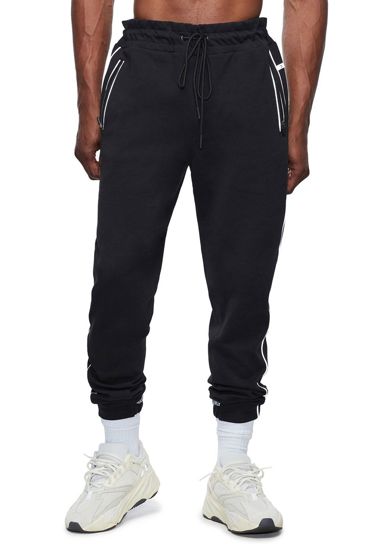 True Religion Men's Double Zip-Pocket Sweatpants w/ Contrast Trim