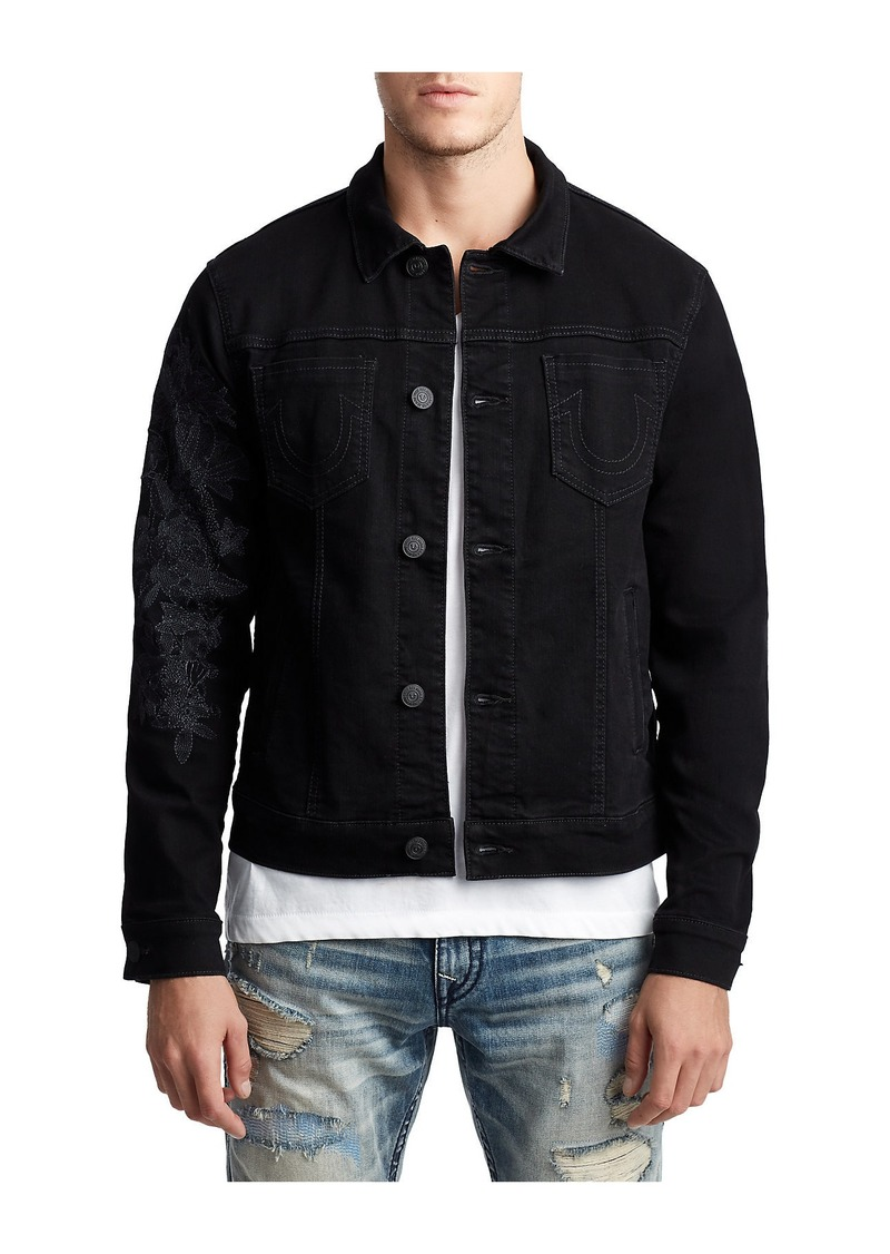 True Religion MENS EMBROIDERED DANNY DENIM JACKET