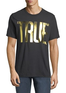 True Religion Men's Gold Foil Logo T-Shirt