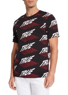 True Religion Men's Graphic Logo Crewneck T-Shirt