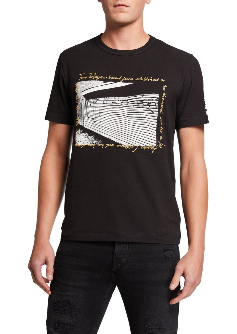 True Religion Men's Horseshoe Graffiti Graphic Crewneck T-Shirt