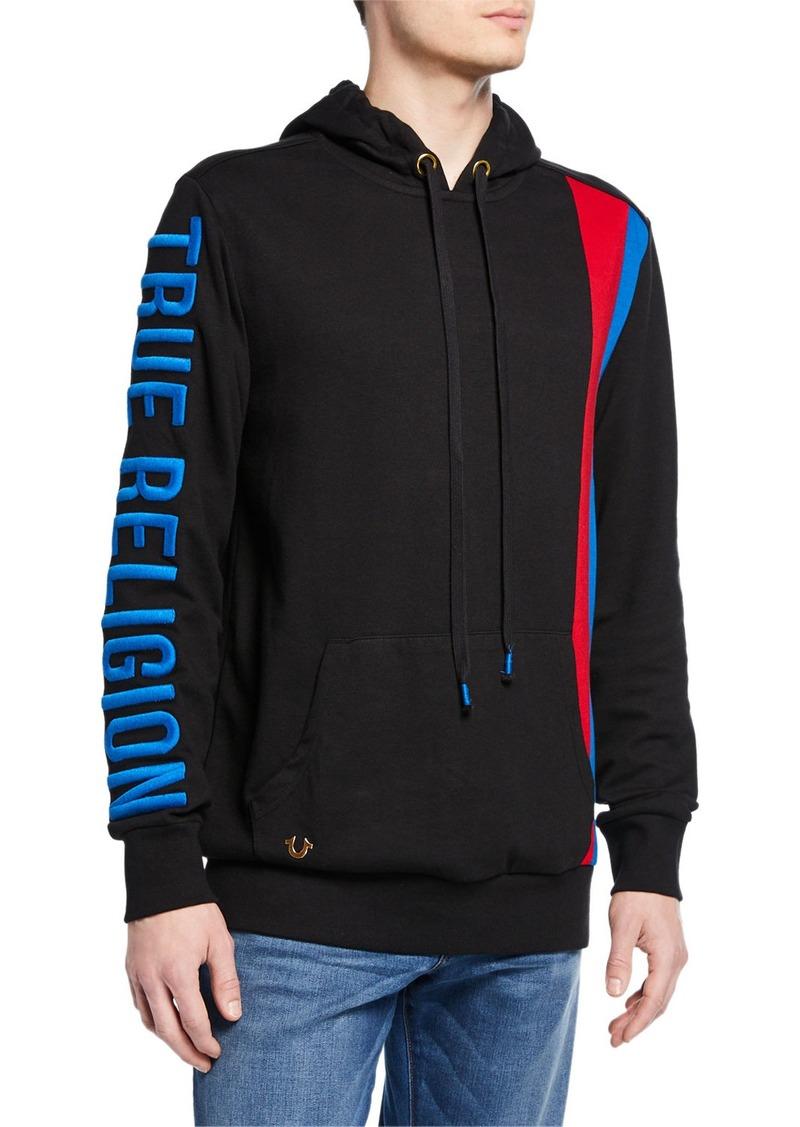 True Religion Men's Logo-Embroidered Pullover Hoodie