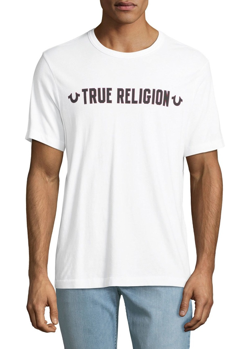 d0e3e173c2bd True Religion Men's Logo Outline Graphic T-Shirt