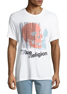 True Religion Men's Logo Skull Graphic T-Shirt