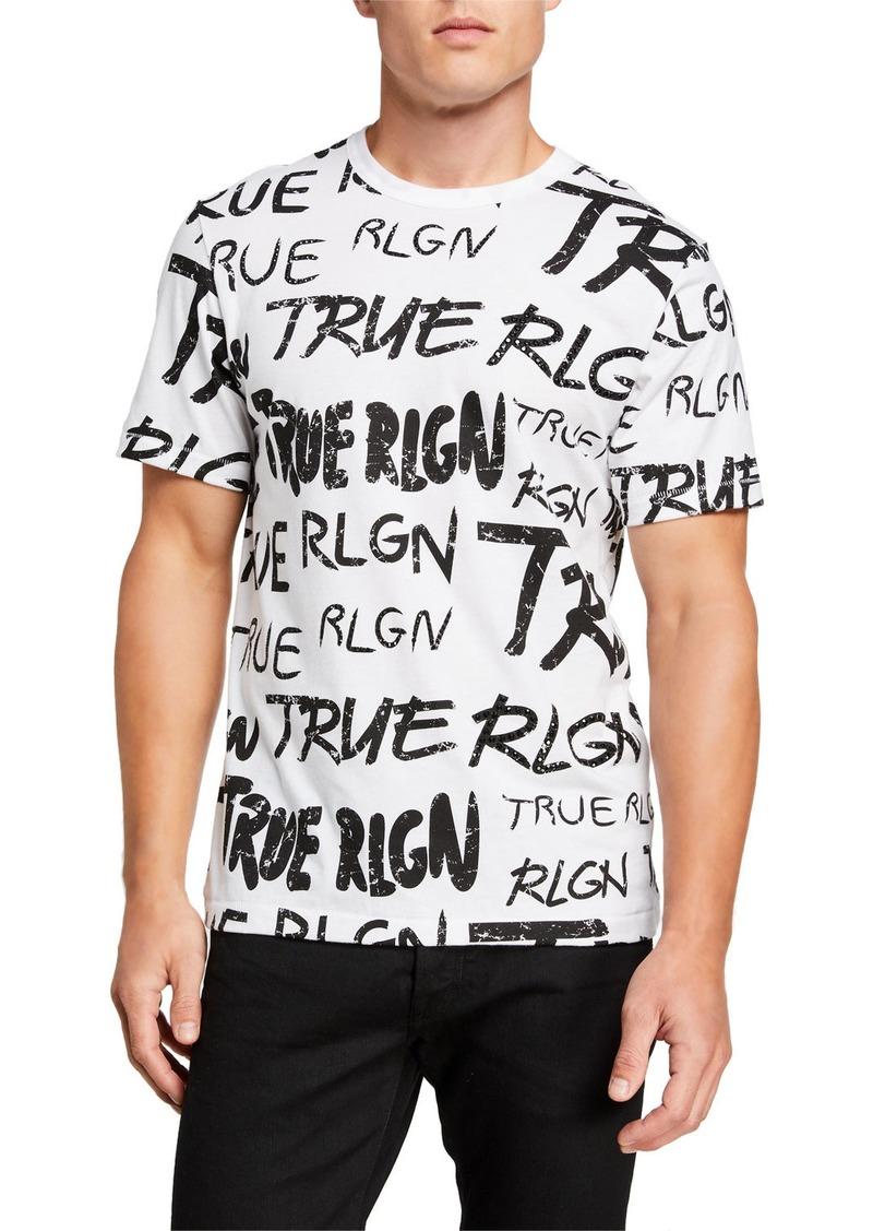 True Religion Men's Logo Typographic T-Shirt